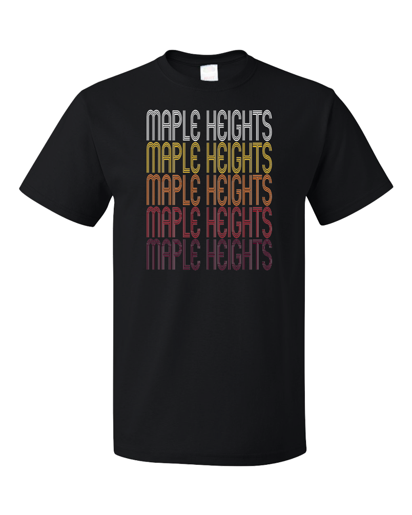 Standard Black Maple Heights, OH | Retro, Vintage Style Ohio Pride  T-shirt
