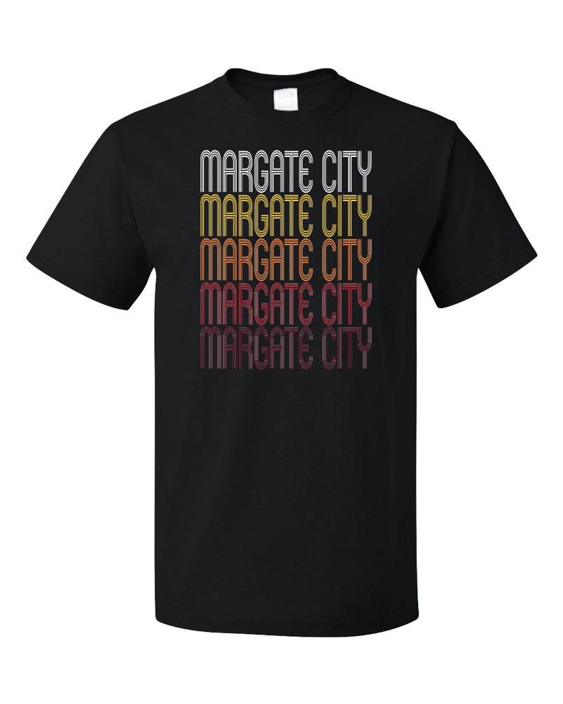 Standard Black Margate City, NJ | Retro, Vintage Style New Jersey Pride  T-shirt