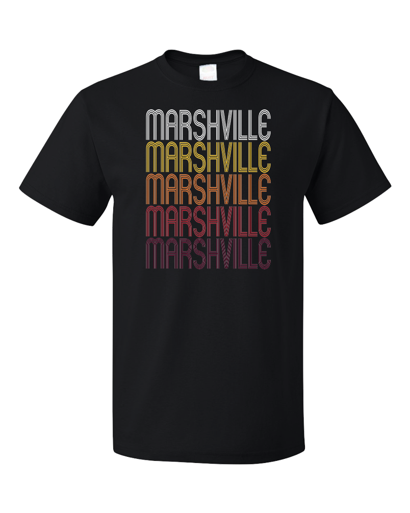 Standard Black Marshville, NC | Retro, Vintage Style North Carolina Pride  T-shirt