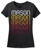 Ladies Black Mason, TX | Retro, Vintage Style Texas Pride  T-shirt