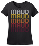 Ladies Black Maud, TX | Retro, Vintage Style Texas Pride  T-shirt