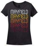 Ladies Black Mayfield, OH | Retro, Vintage Style Ohio Pride  T-shirt