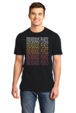 Standard Black Meadows Place, TX | Retro, Vintage Style Texas Pride  T-shirt