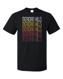 Standard Black Meridian Hills, IN | Retro, Vintage Style Indiana Pride  T-shirt