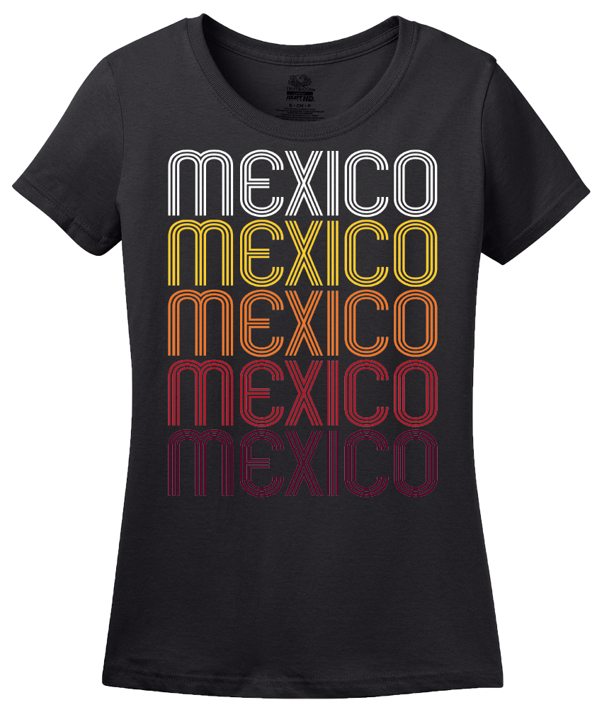 Ladies Black Mexico, MO | Retro, Vintage Style Missouri Pride  T-shirt