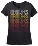 Ladies Black Miami Lakes, FL | Retro, Vintage Style Florida Pride  T-shirt