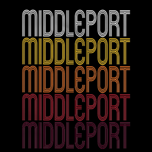 Middleport, OH | Retro, Vintage Style Ohio Pride