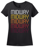 Ladies Black Midway, NC | Retro, Vintage Style North Carolina Pride  T-shirt