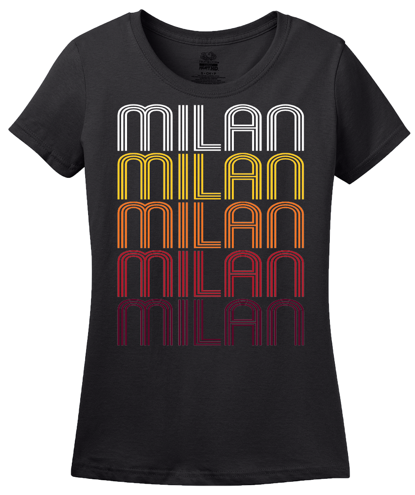 Ladies Black Milan, TN | Retro, Vintage Style Tennessee Pride  T-shirt
