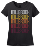 Ladies Black Millbrook, AL | Retro, Vintage Style Alabama Pride  T-shirt