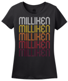 Ladies Black Milliken, CO | Retro, Vintage Style Colorado Pride  T-shirt