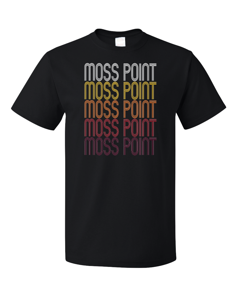 Standard Black Moss Point, MS | Retro, Vintage Style Mississippi Pride  T-shirt