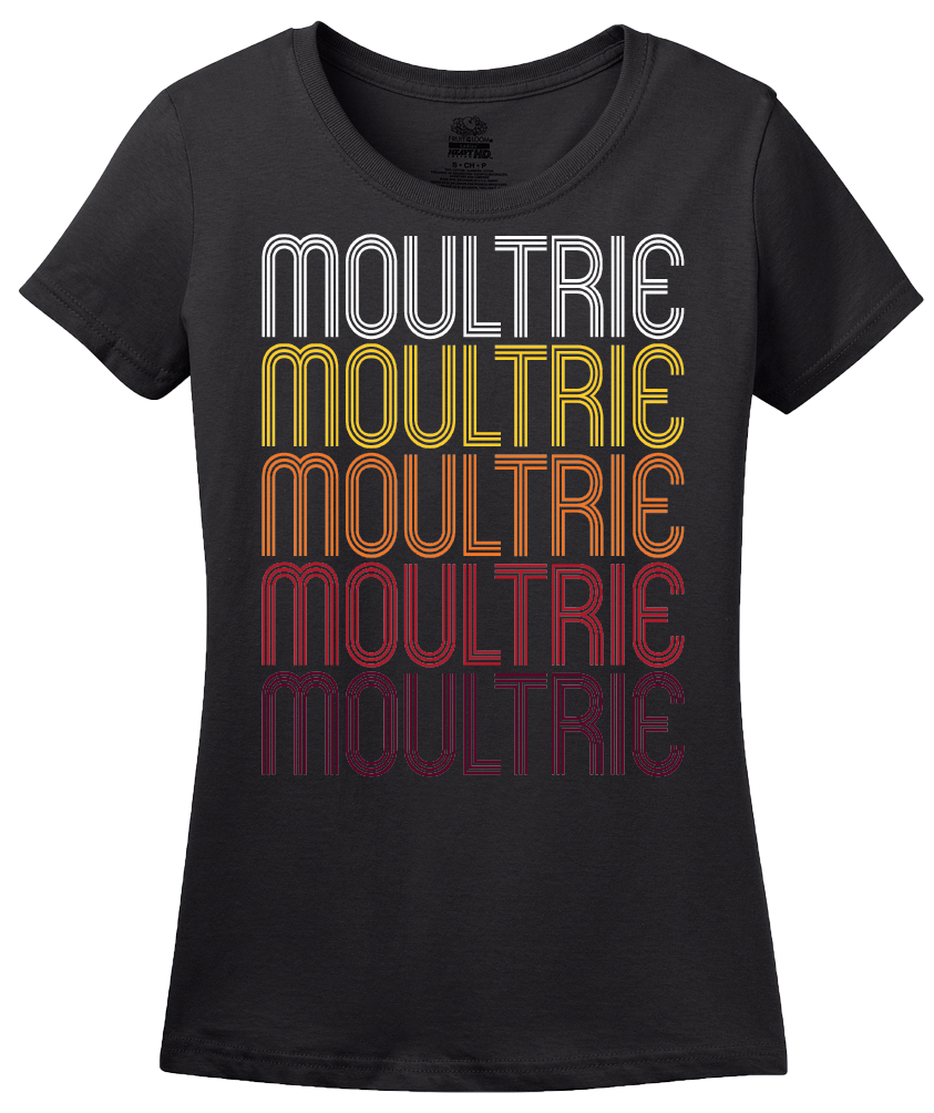 Ladies Black Moultrie, GA | Retro, Vintage Style Georgia Pride  T-shirt