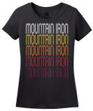 Ladies Black Mountain Iron, MN | Retro, Vintage Style Minnesota Pride  T-shirt