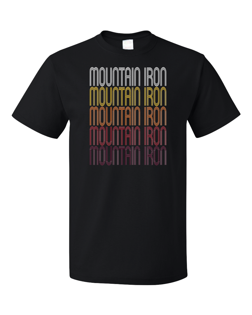 Standard Black Mountain Iron, MN | Retro, Vintage Style Minnesota Pride  T-shirt