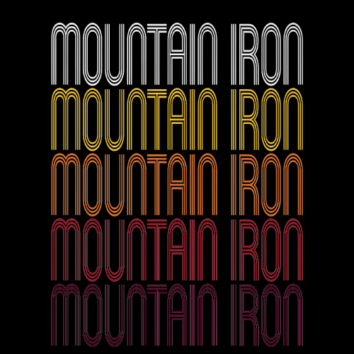 Mountain Iron, MN | Retro, Vintage Style Minnesota Pride