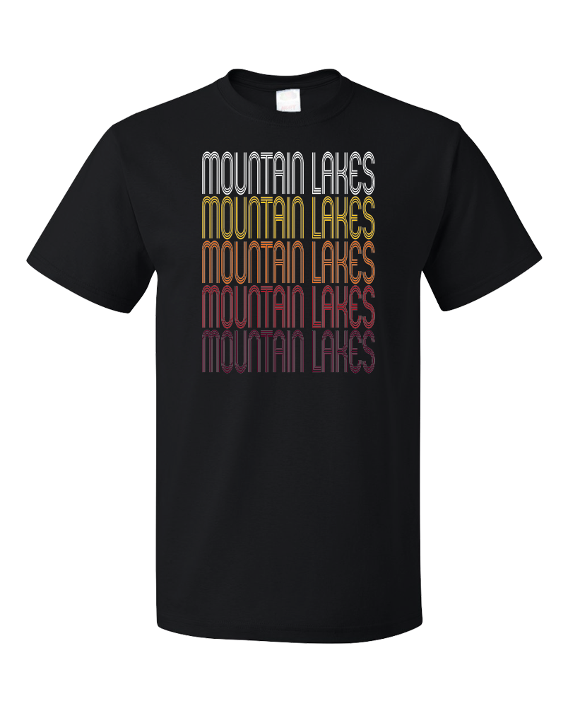 Standard Black Mountain Lakes, NJ | Retro, Vintage Style New Jersey Pride  T-shirt