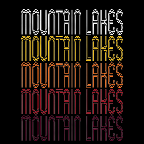 Mountain Lakes, NJ | Retro, Vintage Style New Jersey Pride