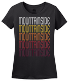 Ladies Black Mountainside, NJ | Retro, Vintage Style New Jersey Pride  T-shirt
