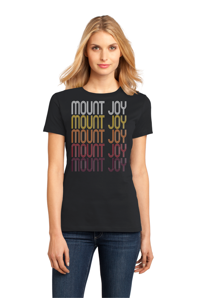 Ladies Black Mount Joy, PA | Retro, Vintage Style Pennsylvania Pride  T-shirt