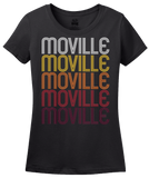 Ladies Black Moville, IA | Retro, Vintage Style Iowa Pride  T-shirt