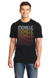 Standard Black Moville, IA | Retro, Vintage Style Iowa Pride  T-shirt