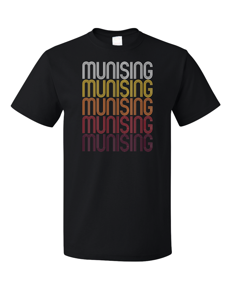 Standard Black Munising, MI | Retro, Vintage Style Michigan Pride  T-shirt