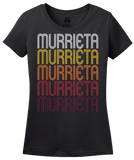 Ladies Black Murrieta, CA | Retro, Vintage Style California Pride  T-shirt
