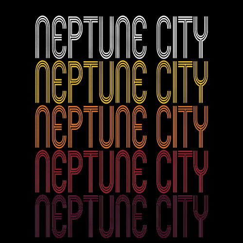 Neptune City, NJ | Retro, Vintage Style New Jersey Pride