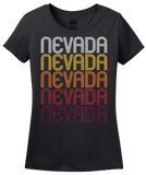 Ladies Black Nevada, MO | Retro, Vintage Style Missouri Pride  T-shirt