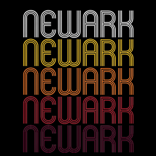 Newark, NJ | Retro, Vintage Style New Jersey Pride