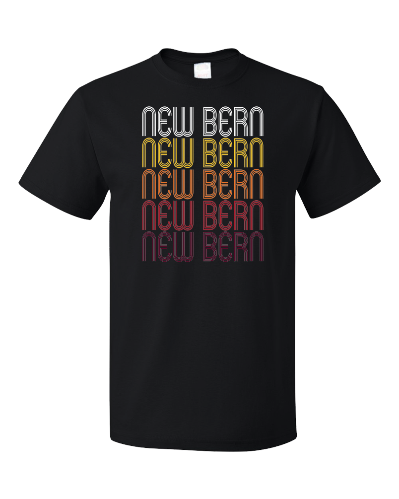Standard Black New Bern, NC | Retro, Vintage Style North Carolina Pride  T-shirt