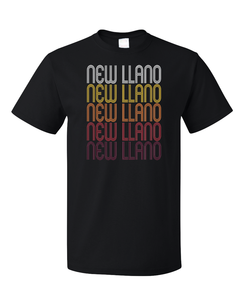 Standard Black New Llano, LA | Retro, Vintage Style Louisiana Pride  T-shirt