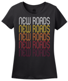 Ladies Black New Roads, LA | Retro, Vintage Style Louisiana Pride  T-shirt