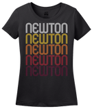 Ladies Black Newton, NJ | Retro, Vintage Style New Jersey Pride  T-shirt