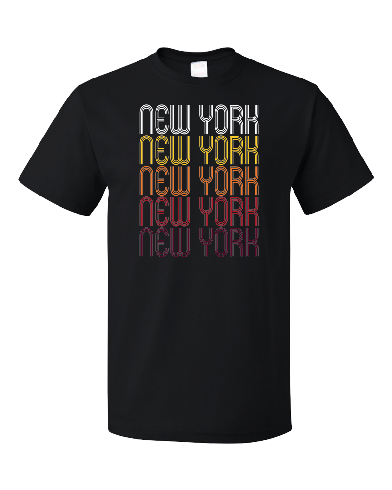 Standard Black New York, NY | Retro, Vintage Style New York Pride  T-shirt