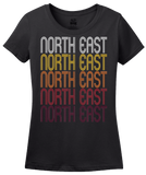 Ladies Black North East, PA | Retro, Vintage Style Pennsylvania Pride  T-shirt