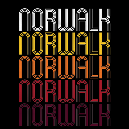 Norwalk, CT | Retro, Vintage Style Connecticut Pride