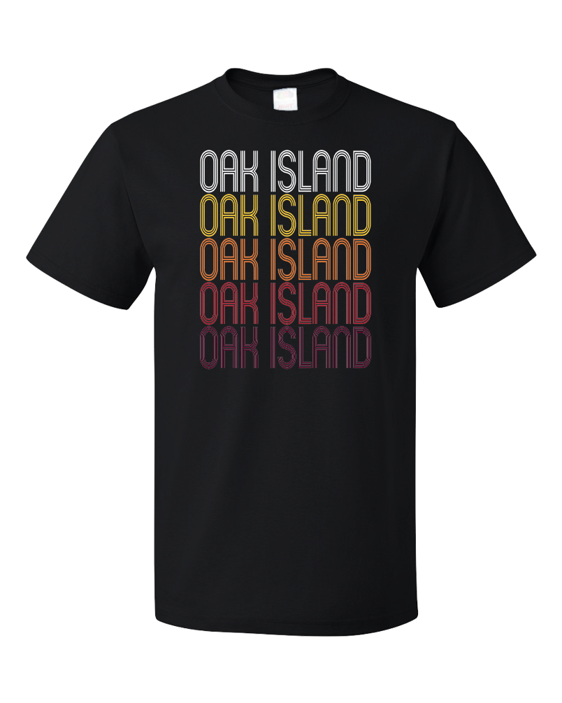 Standard Black Oak Island, NC | Retro, Vintage Style North Carolina Pride  T-shirt