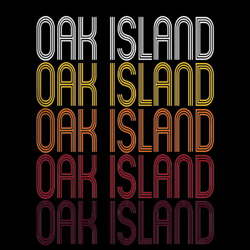 Oak Island, NC | Retro, Vintage Style North Carolina Pride