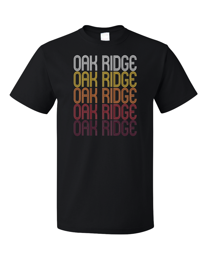 Standard Black Oak Ridge, TN | Retro, Vintage Style Tennessee Pride  T-shirt