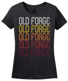 Ladies Black Old Forge, PA | Retro, Vintage Style Pennsylvania Pride  T-shirt