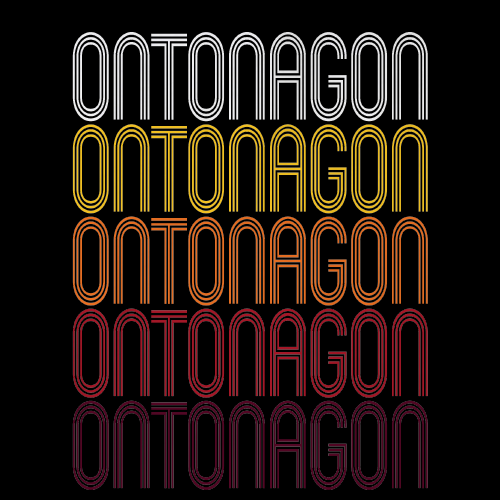 Ontonagon, MI | Retro, Vintage Style Michigan Pride