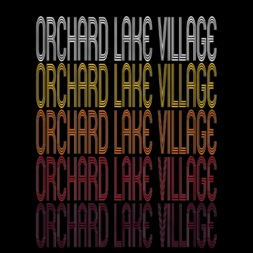 Orchard Lake Village, MI | Retro, Vintage Style Michigan Pride