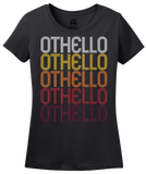Ladies Black Othello, WA | Retro, Vintage Style Washington Pride  T-shirt