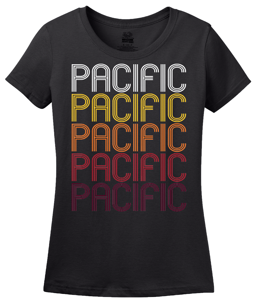 Ladies Black Pacific, MO | Retro, Vintage Style Missouri Pride  T-shirt