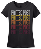Ladies Black Painted Post, NY | Retro, Vintage Style New York Pride  T-shirt