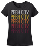 Ladies Black Park City, KS | Retro, Vintage Style Kansas Pride  T-shirt
