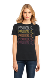 Ladies Black Paso Robl, S_ | Retro, Vintage Style  Pride  T-shirt