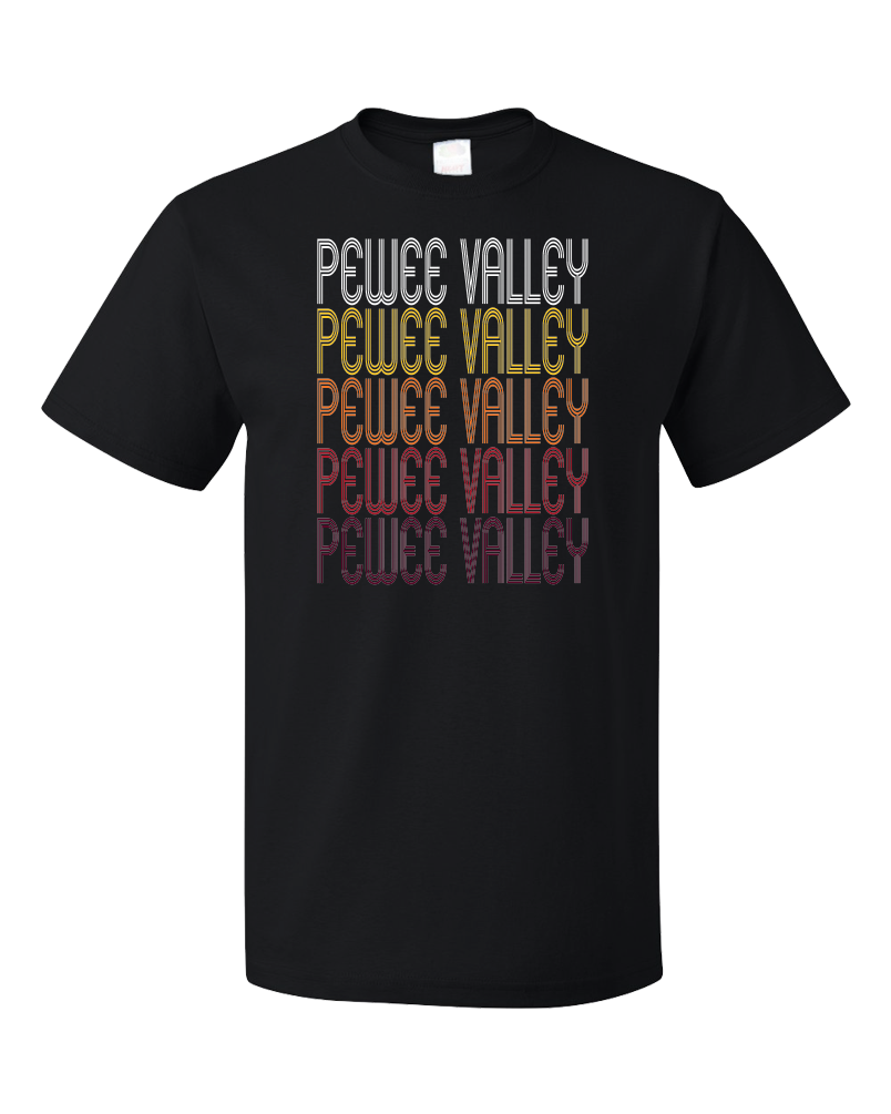 Standard Black Pewee Valley, KY | Retro, Vintage Style Kentucky Pride  T-shirt